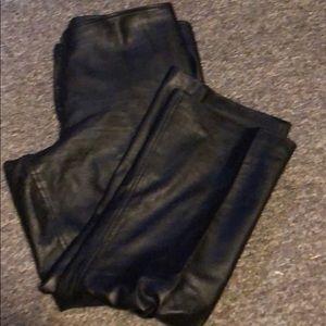 Used black leather pant by originaux Pablo size16